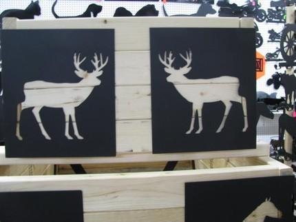 Deer 002 Raise Flower Bed Corner Kit Metal Art Wildlife Silhouette