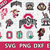 Ohio State Buckeyes digital file Logo Svg, Eps, Dxf, Png, budle svg for cricut,