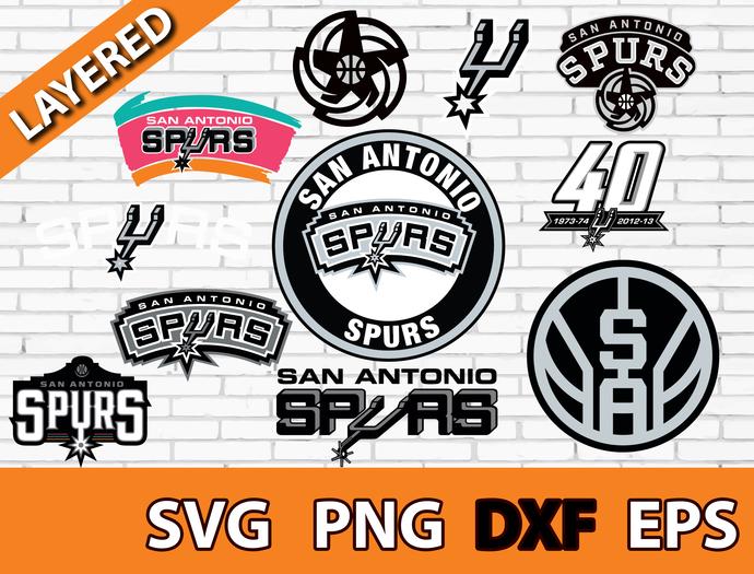 San Antonio Spurs digital file Logo Svg, Eps, Dxf, Png, budle svg for cricut,