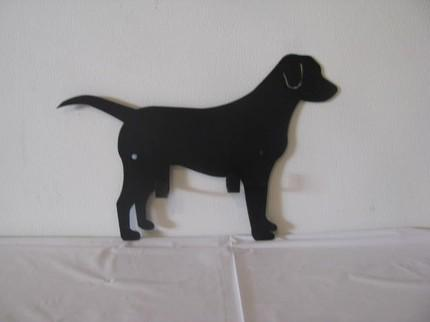 Dog Leash/Key Holder Metal Art Silhouette