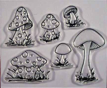 Shrooms to Grow clear stamp set