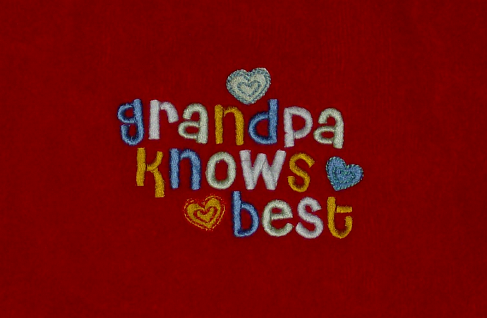 Grandpa Knows Best Fringed Terry Velour Baby Bib