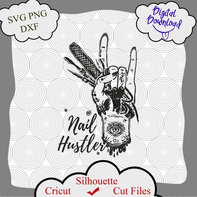 Nail Hustler svg, Nail Hustler logo, Nail Hustler Png, Nail Hustler shirt, Nail
