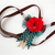 Red Poppy Ribbon Neckwear for Pets, Cat Accessories, Handmade, Pet Fashion,