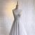 Beautiful Ivory Chiffon Beaded Slit Long Prom Dress, V-neckline New Party Dress