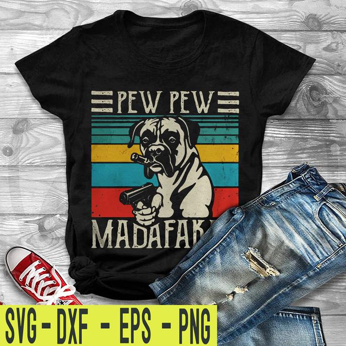 Bulldogs pew pew madafakas vintage retro SVG , EPS , DXF , PNG DIGITAL DOWNLOAD