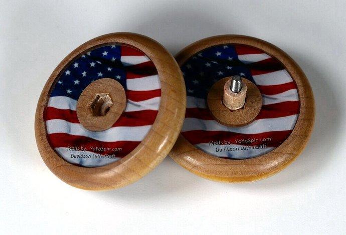 "Vintage Tom Kuhn No-Jive Sunburst Mandala Yo-Yo: ""USA 4th of July"""