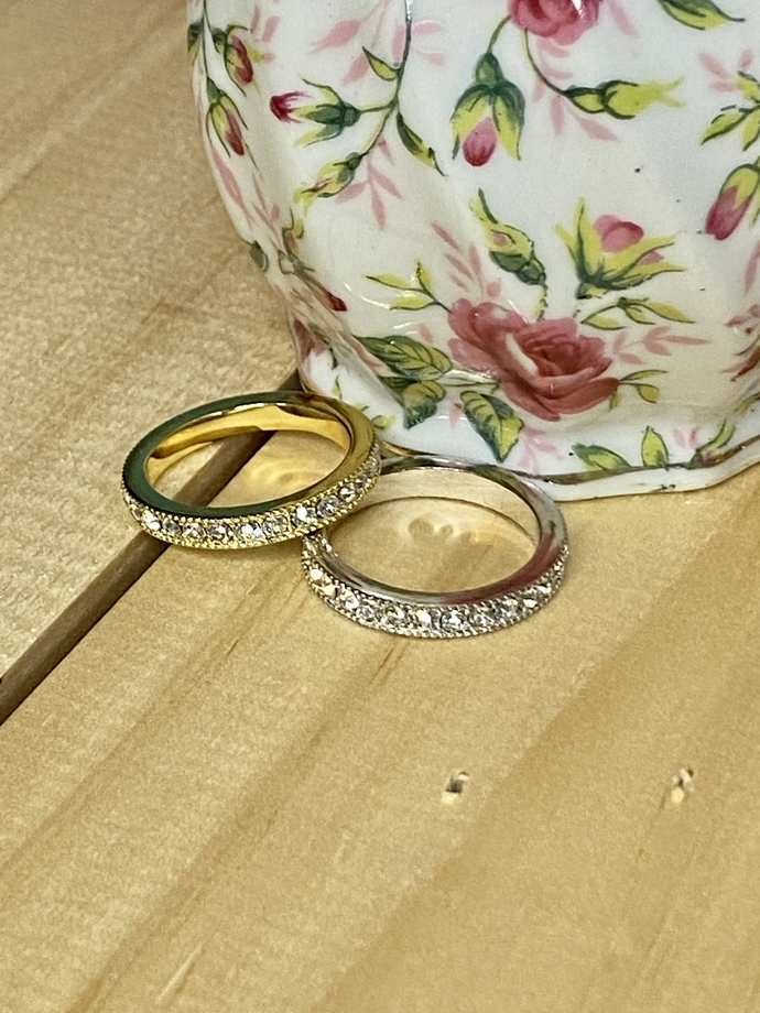 Set of Gold and Silver Fashion Rings