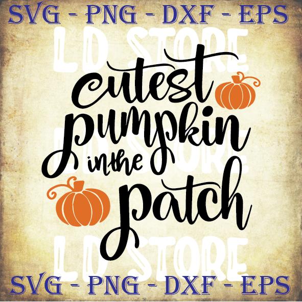 Cutest Pumpkin In The Patch Svg Halloween Svg By Ldstoresvg On