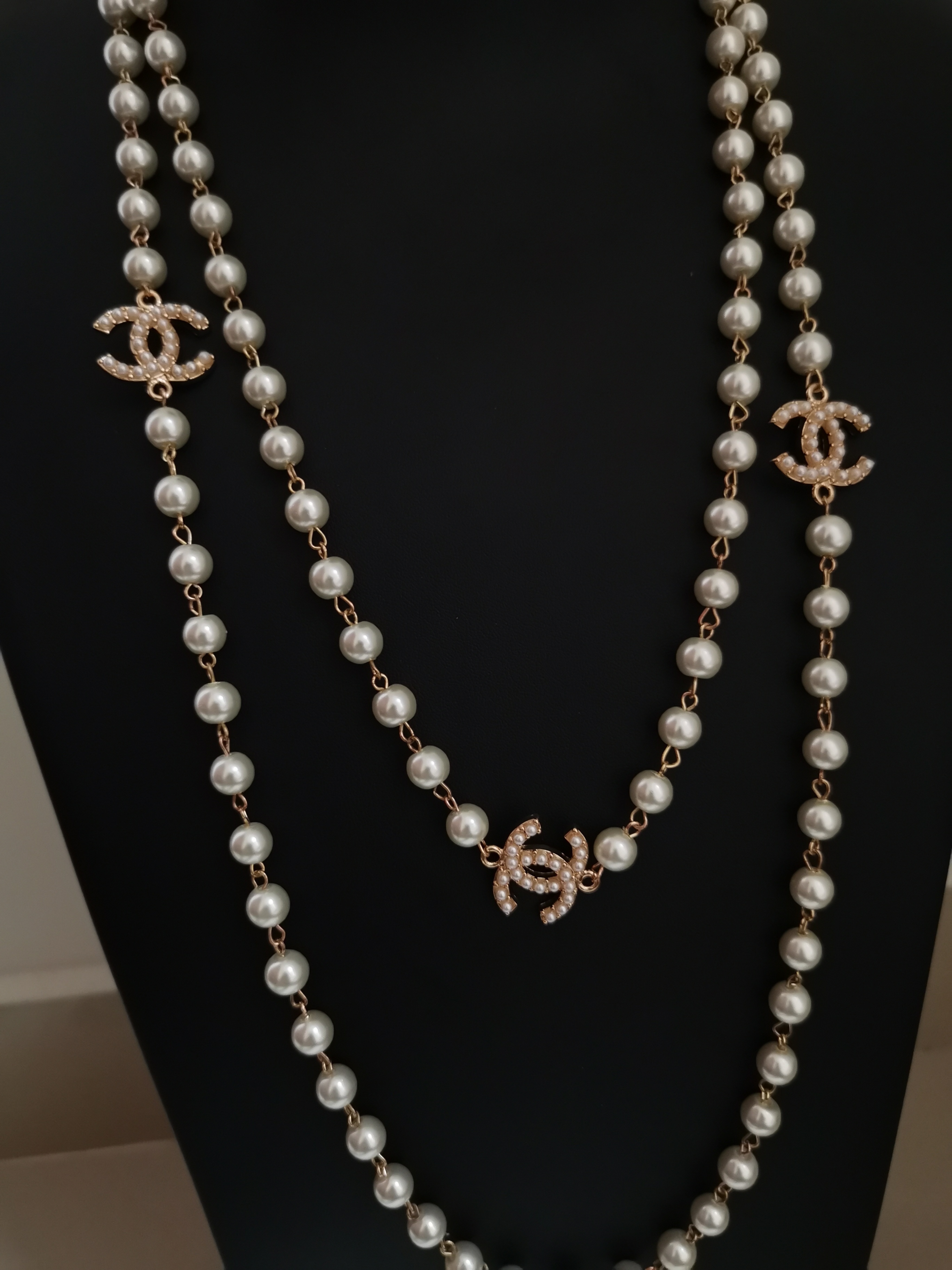 Luxury Long pearl necklace