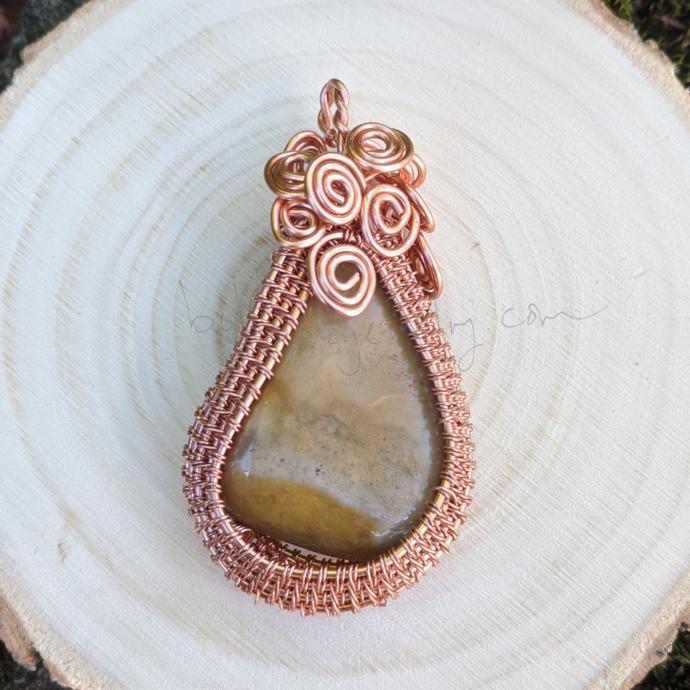 Handmade Copper Wire Woven Pendant