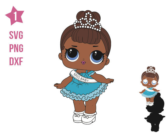 Miss Baby Surprise Lol SVG, LOL Surprise Doll, Lol, Cricut file, silhouette,