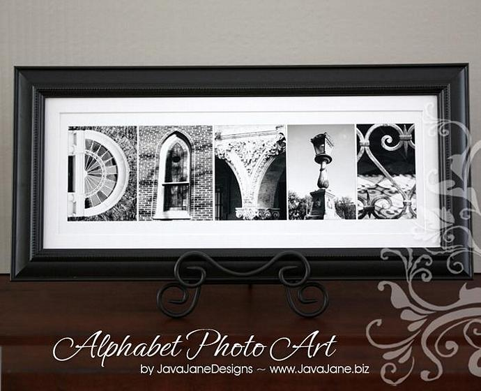 Letter d alphabet photography individual 4x6 black and white photo for name