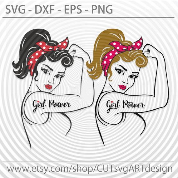Girl Power Svg Eps Png Dxf Cutting File Silhouette Cricut Rosie Svg Pin Up Svg Rosie The Riveter Strong Woman Svg Girl Svg Mom Svg Vector708 A C Moore Marketplace