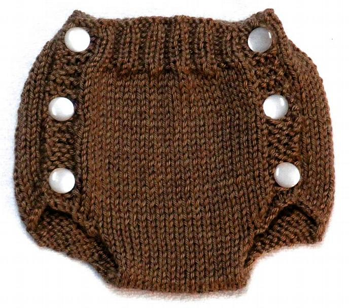 Diaper Cover Knitting Pattern - PDF