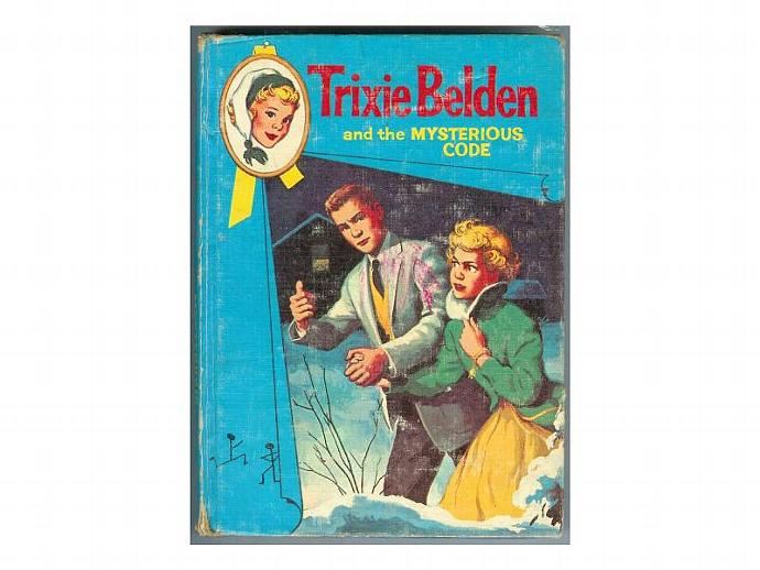 Vintage Trixie Belden Book 7 The Mysterious Code Whitman Hardcover 1960s