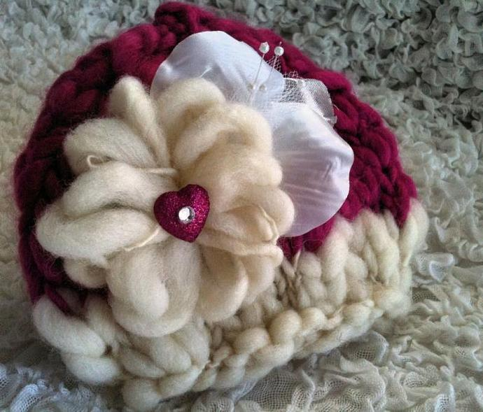 Newborn Whimsical Bloomin' Love Hat- Confection