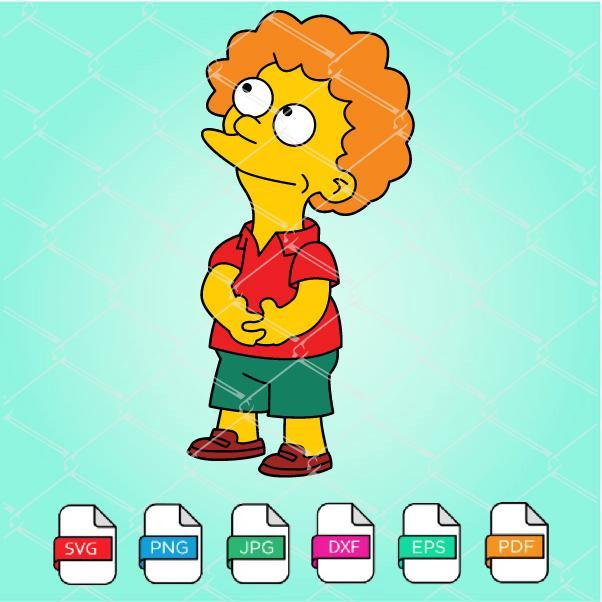 Todd Flanders Svg The Simpsons Svg Simpsons By Funnysvgshop On
