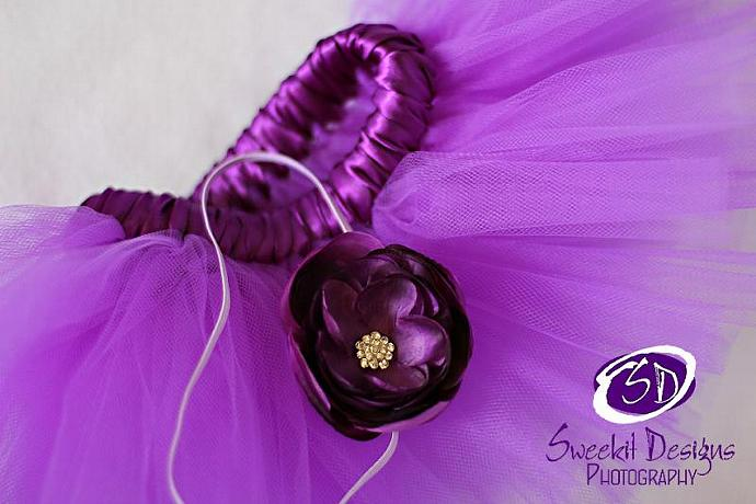 DAINTY PURPLE GRACE FLOWER & SKINNY ELASTIC HEADBAND