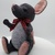 Hand Sewn Felt Mouse - dark grey and light grey