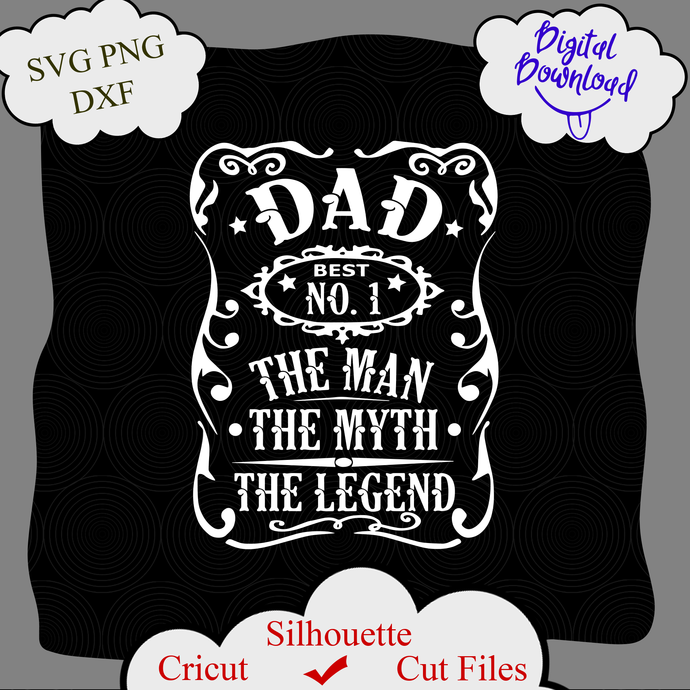 Free Choose from a variety of personalized father's day shirts at gifts.com. Dad The Man The Myth The Legend Svg Dad By Littemom Shop On Zibbet SVG, PNG, EPS, DXF File