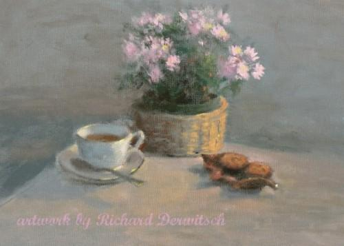 Tea and Cookies - Giclee Print