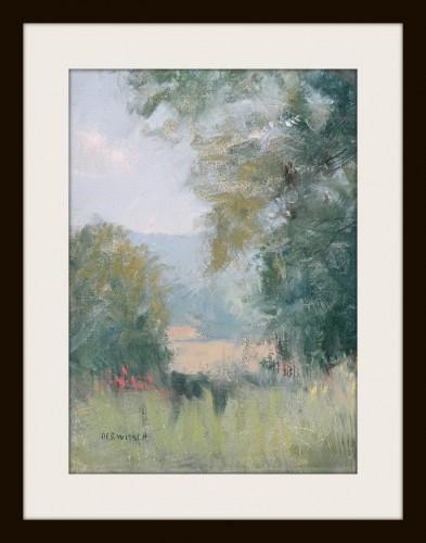 Hay Field - giclee print of an orginal painting