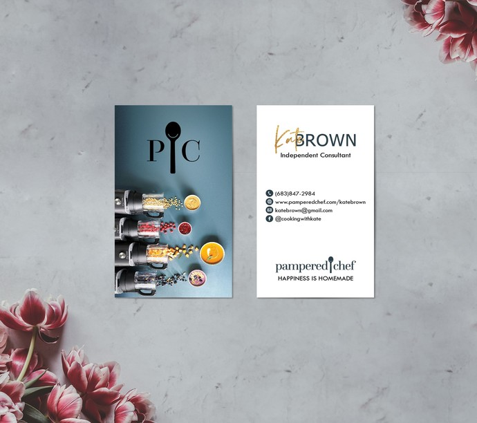 Custom Pampered Chef business card, Personalized Pampered Chef Business Card