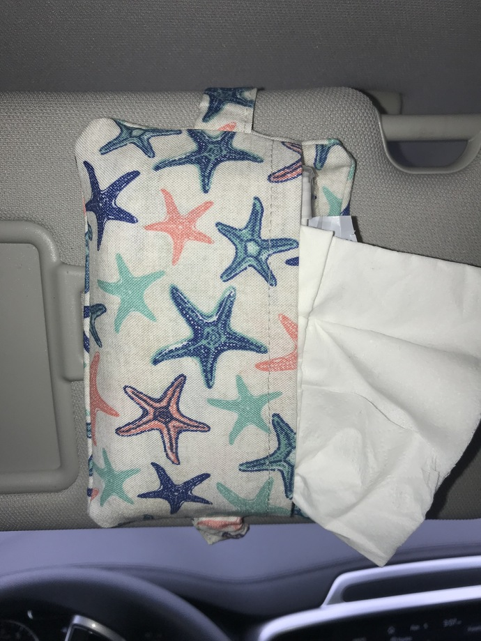 Starfish Car Visor Tissue Holder