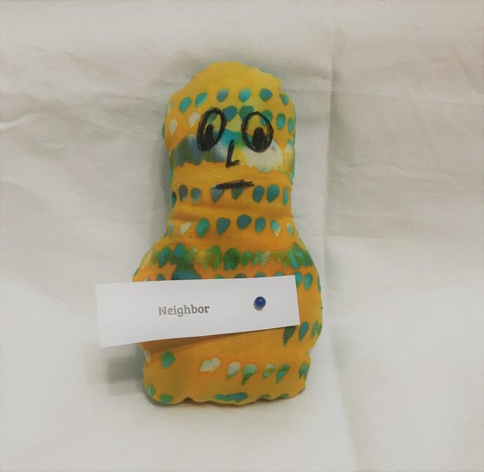 Tie Dye Paisley Frustration Doll Pincushion