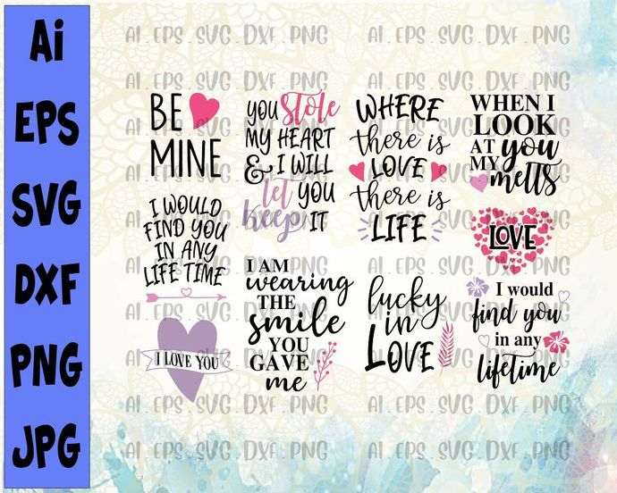 Falling In Love Quotes Svg Cut File By Svgtrendingstore On Zibbet