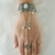 Opalite Pentacle Slave Bracelet, handmade jewelry wiccan pagan handchain wicca