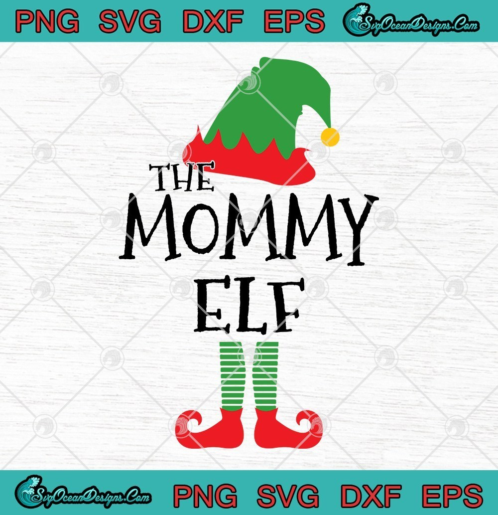 The Mommy Elf Family Christmas Svg Png Eps Dxf By Taylkesvg On Zibbet