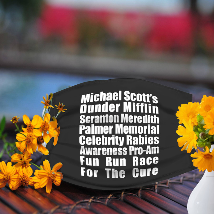 Dunder Mifflin Team face mask, Reusable Face Mask, Machine Washable, With Filter