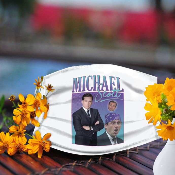 Michael scott face mask, Made In USA
