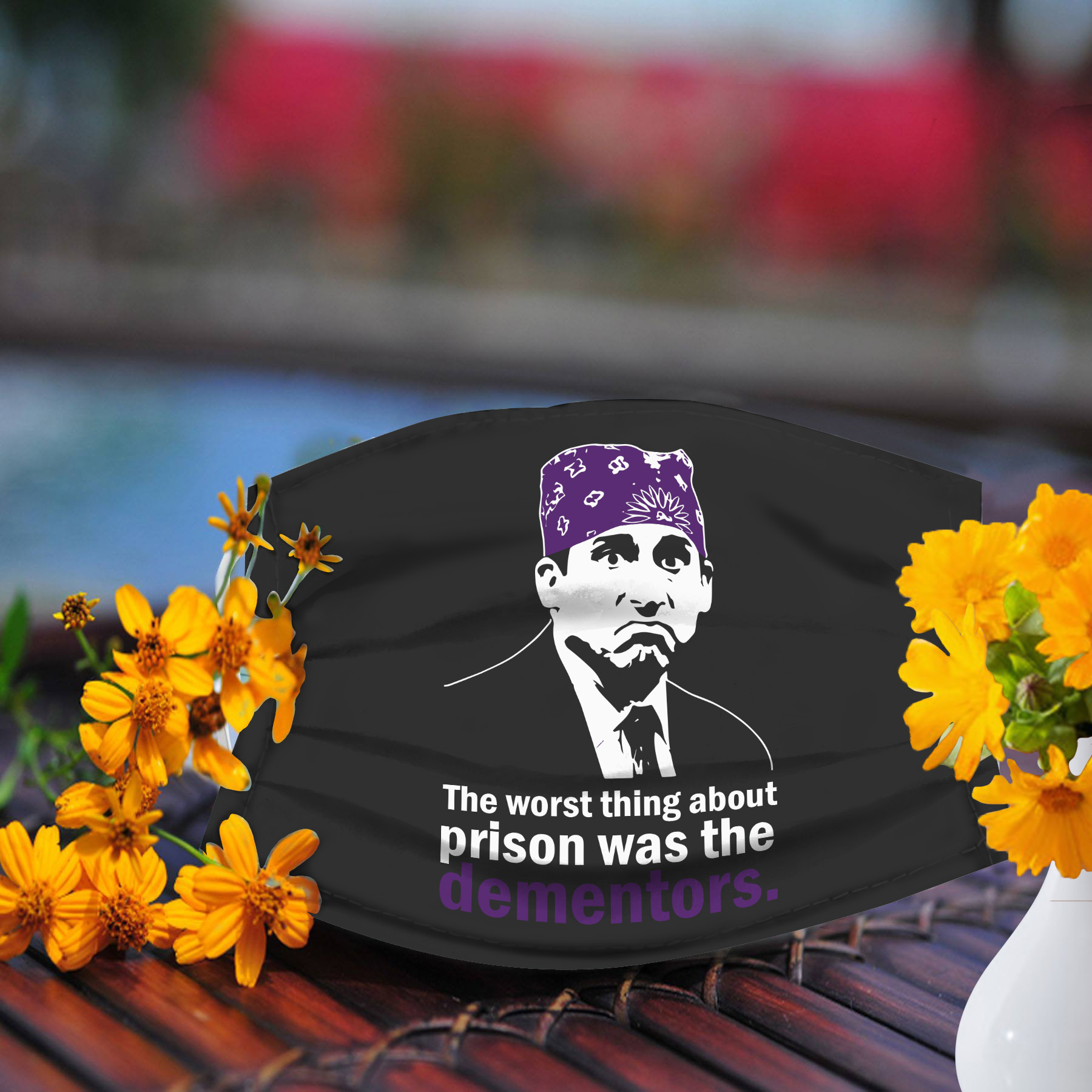 Prison Mike mask, the worst thing about prison was the dementors face mask, Made