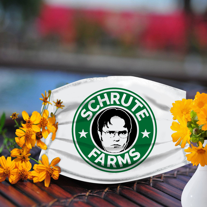 Schrute Farms the office face mask, Made In USA