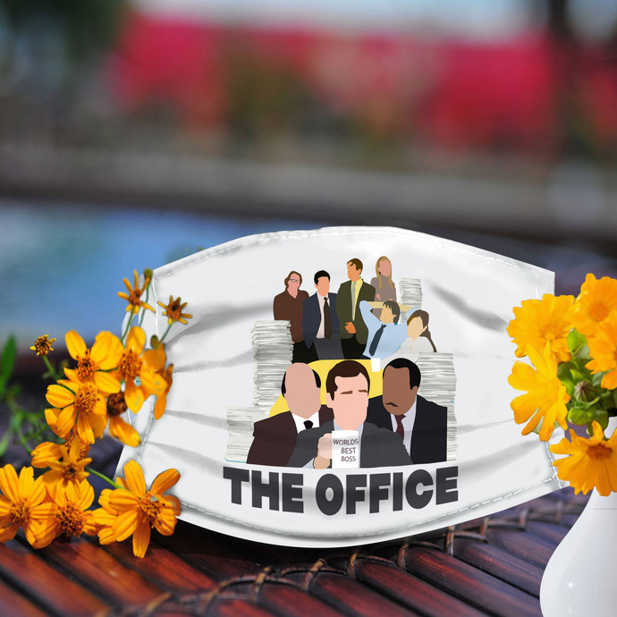 Worlds best boss the office face mask, Reusable Face Mask, Machine Washable,