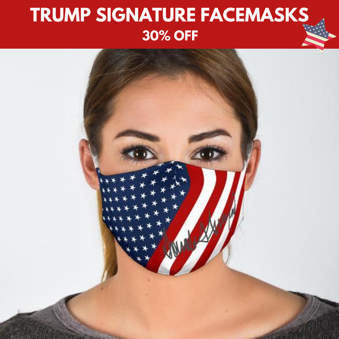 DJ Trump Signature - Face Mask, Machine Washable, With Filter Pocket DTG