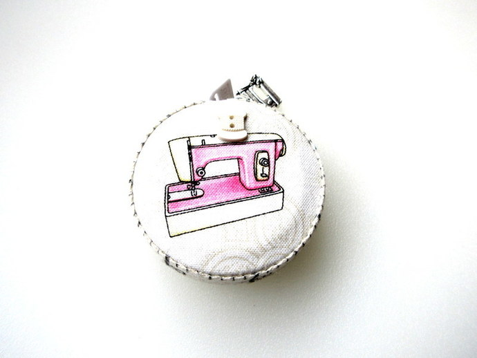 Measuring Tape Retro Sewing Machines Small RetractableTape Measure