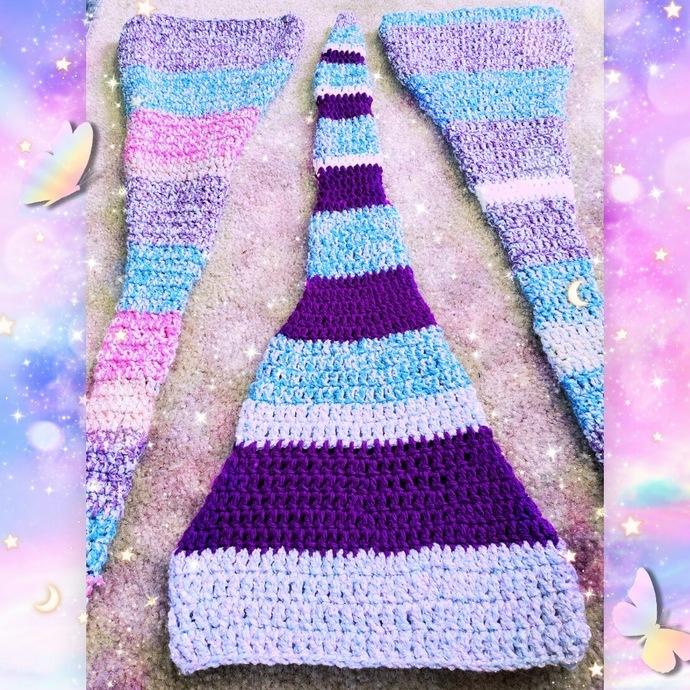 Crochet Pastel Elf Hats