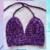 Velvet Deep Purple Crochet Top