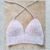 Velvet Silver Crochet Top