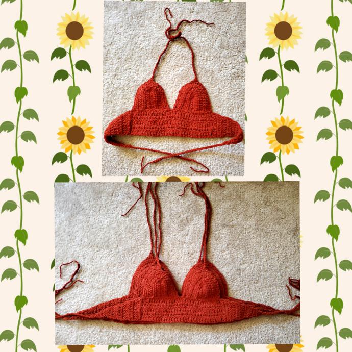 Soft Orange Crochet Top
