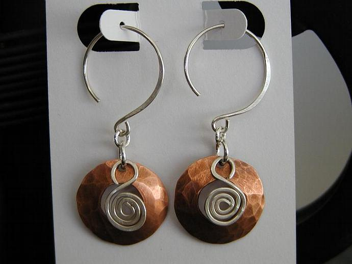 Silver/Copper Earrings