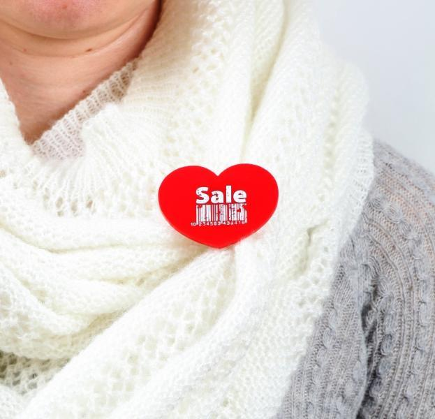 Sale Heart Brooch,Plexiglass Pin,Lasercut Acrylic,Gifts Under 25