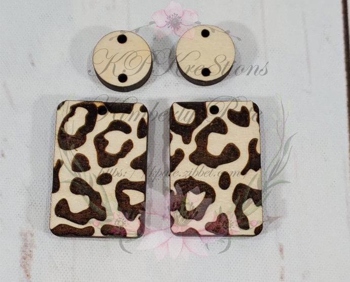 Leopard Earring Blanks -