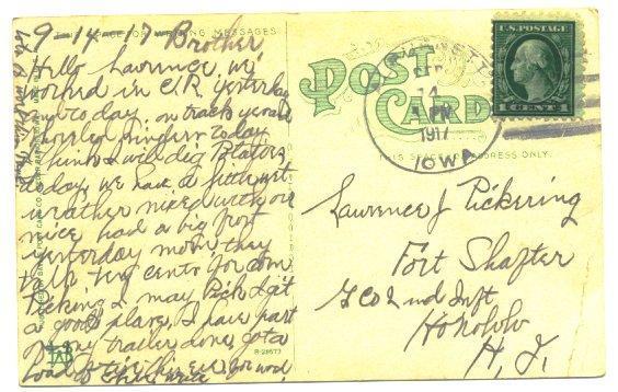 Cedar Rapids Iowa Postcard Electric Fountain 1910s View