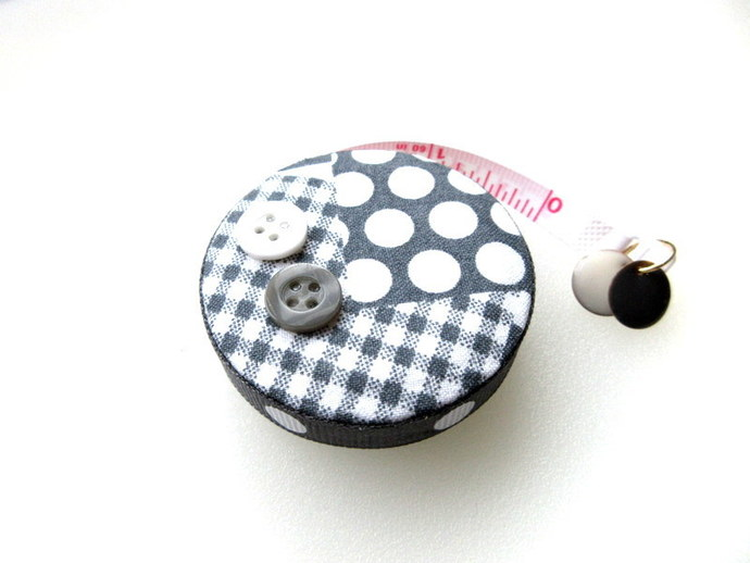 Measuring Tape with Gray Pattern Small Retractable Tape Measure