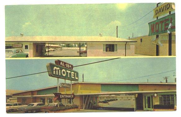 Bossier City Louisiana Postcard Al Ida Motel Vintage 1960s View